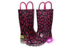 Western Chief Kids' lighted rain boots for boys and girls