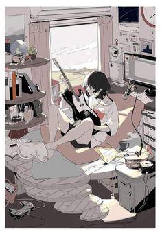Pretty Art, Cute Art, Animes Wallpapers, Cute Wallpapers, Aesthetic Art, Aesthetic Anime, Images Kawaii, Japon Illustration, Anime Scenery Wallpaper
