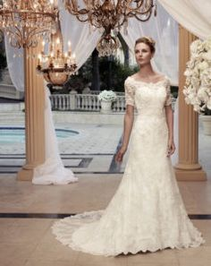 Casablanca Bridal Wedding Dresses - Search our photo gallery for pictures of wedding dresses by Casablanca Bridal. Find the perfect dress with recent Casablanca Bridal photos. Ivory Lace Wedding Dress, Modest Wedding Gowns, Wedding Dresses 2014, Applique Wedding Dress, Wedding Dress Styles, Bridal Dresses, Lace Dress, Dress Wedding, Formal Wedding