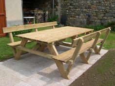 Construction d'une table pique-nique   Asv850