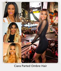 Ciara Parted Ombre Hair/Haar
