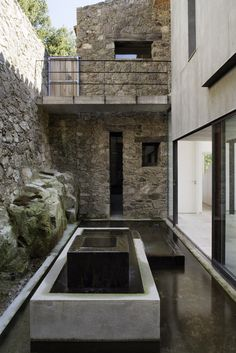 fountain / Off Grid Home in Extremadura by ÁBATON ARCHITECTS