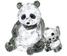 Mamá Panda con Cría - Figuras - Boutique Swarovski en línea