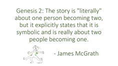 Genesis 2 is not literal