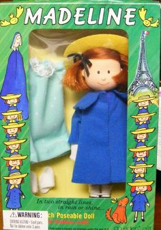Madeline 8 Inch Doll with Bedtime Outfit Gift Set (1994) by Eden. $99.95. Madeline Bedtime Gift Set (1994) complete with 8 inch poseable Madeline Doll in School Outfit w/ Rare Bedtime Outfit. This is the rare Straight hand doll.