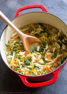 Healthy Vegetable Chicken Soup - The Girl Who Ate Everything