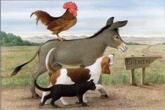 Illustrations for 'The Bremen Town Musicians an... - Book Artists and Their Illustrations - Quora