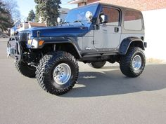 IT DOESNT LOOK 11 YEARS OLD! ITS A FINE RIDE!  2003 lifted jeep wrangler - Bing Images #Jeep #Wheels