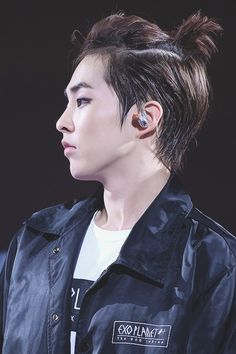 Minseok. I've developed this obsession with manbuns/ponytails. They're cute!! Especially on Minseok