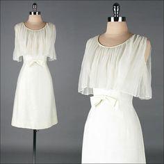 vintage 1960s dress  ivory wool blend  por millstreetvintage, $85.00
