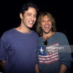 Two young Jons - Jon Bon Jovi & Jon Stewart in the 90's. @suelimariarufino | Instagram
