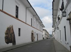 Popayan side-street in the early morning