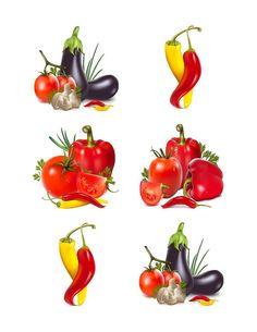 Vegetable clipart setclip artset tomato by SAVVYCOUNTRYDESIGNS