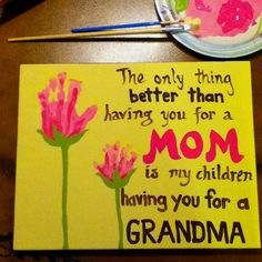 mother's day.... child's handprints