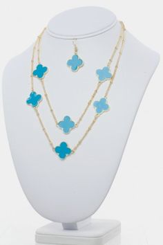 Clover Necklace Set  (6 Color Options)  Refer a Friend for a $300 Shopping Spree!