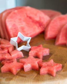 How To Cut Watermelon Stars