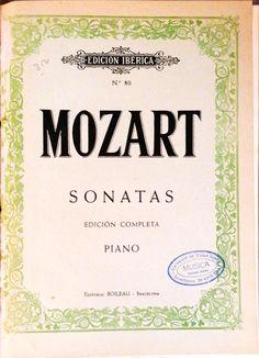 Mozart, W. Amadeus. Sonatas edición completa para piano
