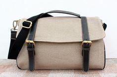 Messenger Soft Brown Sackcloth $43