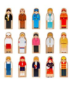 Action Figure Statues - Little Professionals Wooden Character Set 15 pieces by Imagination Generation >>> To view further for this item, visit the image link. Wooden People, Wooden Playset, Wooden Toys, Educational Games For Kids, Educational Toys, Kids Learning, Wooden Shapes, Stand Tall, Pretend Play