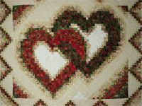 Linking Hearts   Queen size quilt