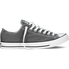 Converse Chuck Taylor All Star Classic Colors – black Sneakers (350 DKK) ❤ liked on Polyvore featuring shoes, sneakers, converse, grey, chuck taylor, black, grey sneakers, black trainers, converse sneakers and rocker shoes