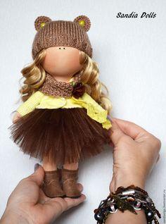 Art Doll Poupée Handmade doll Rag doll Fabric doll Tilda doll Bambole Puppen Yellow doll Soft doll Baby doll Muñecas Decor doll by Olga S Girl Dolls, Baby Dolls, Waldorf Dolls, Soft Dolls, Fabric Dolls, Beautiful Dolls, Crochet Baby, Crochet Dolls, Doll Clothes