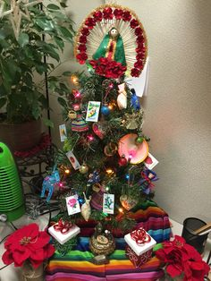 My Mexican Christmas tree at work. #mexicanchristmas #navidadmexicana #loteria