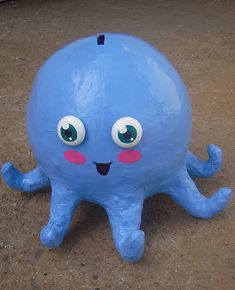 paper mache octopus by amykins1111, via Flickr