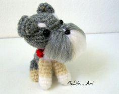 Miniature Schnauzer Puppy Amigurumi Plush