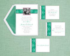 Winter wonderland wedding invitations by Sussex Printing Corp. www.sussexprinting.com  #Wedding #Invitations
