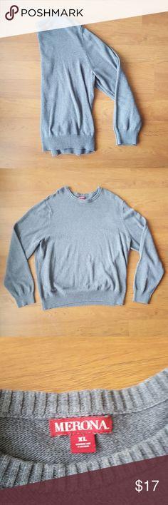 {Merona} Grey Men's Crewneck Sweater Cute sweater perfect for the cold weather. Merona Sweaters Crewneck