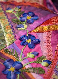 Crazy Quilt Block--Plays With Needles: Crazy for Allie