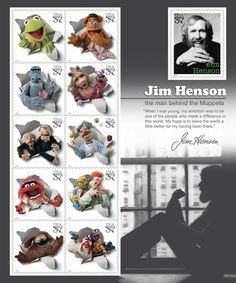 Muppet postage stamps