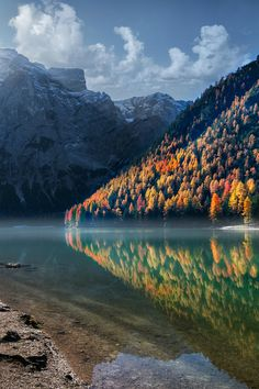 Braies Lake, South Tyrol, Italy by Marco Carmassi