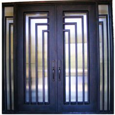 Modern Iron Doors New York, Residential Iron, Custom Made Metal Front Door Supplier