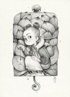 Сообщество иллюстраторов / Иллюстрации / Blad Moran / Sketchtober   008