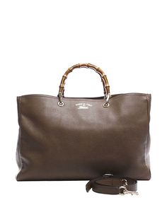 Gucci Pre-Owned Gucci Bamboo Handle Large Shopper Bag