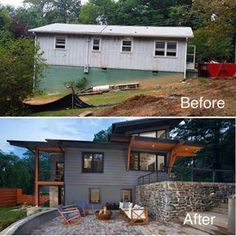 A little before after from livingstoneconst swipe to #homeRemodeling