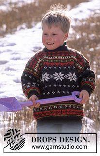 Children - Free knitting patterns and crochet patterns by DROPS Design Baby Knitting Patterns, Knitting For Kids, Baby Patterns, Free Knitting, Crochet Patterns, Drops Design, Tejido Fair Isle, Motif Fair Isle, Pull Jacquard