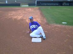Associate Head Coach Randy Mazey, TCU, shows you the proper technique for the feet-first slide. Stay tuned for more Coach Mazey Baseball Tips.