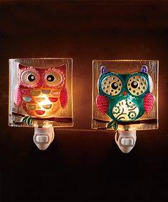 Look what I found on #zulily! Owl Night-Light Set #zulilyfinds @carrietorres