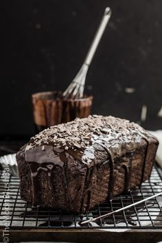 Sweet Treats| repinned by Serafini Amelia| Quadruple Milo Glazed Loaf Cake