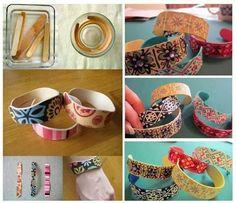 Armbandjes gemaakt v ijsstokjes