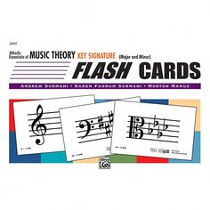 Music Theory Flashcards By Alfred 89 Coloured Flash Cards Music Teaching Aid