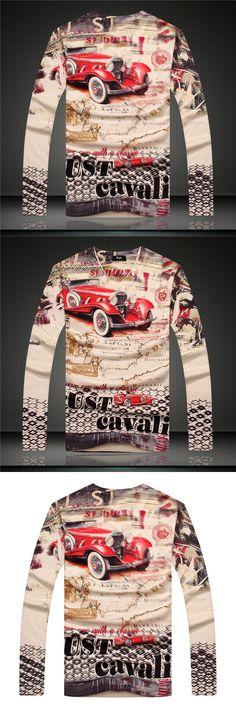 winter style fashion brand Men's casual T-shirt cotton luxury pop long-sleeve V-Neck Tees slim Thickened warm T-shirt men 403