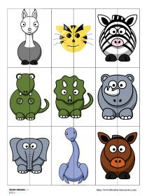 Librairie-Interactive - Jeu des moitiés d'animaux