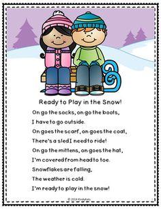 Winter Clothing Rhyme Freebie | Winter songs for preschool ...