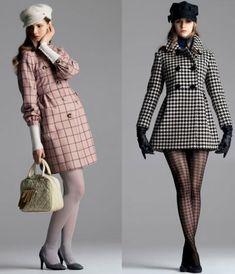 60'S 2014 FASHION LOOKS | Left: Pink check wool coat £70, Angora baker boy hat £8, Leather ...