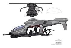 UNSC Falcon by Rhizus