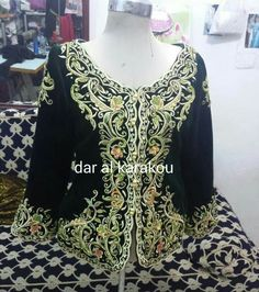 Veste karakou algérois #algeriantraditionaldresses #Algérie #الجزائر #Algeria